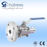 Hose Nipple Connector를 가진 3PC Flange Ball Valve