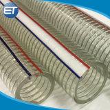 PVCプラスチック螺線形の鋼線補強された適用範囲が広い農業水潅漑のホース