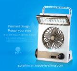 3 in 1 indicatore luminoso solare portatile del ventilatore da tavolo LED