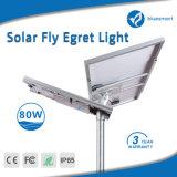 iluminación solar al aire libre integrada solar del sensor de movimiento de 80W LED