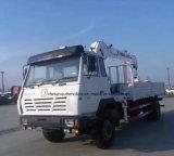 De Vrachtwagen van de Lading van Shacman 4X2 Opgezet met Kraan van het Wapen van 6 T de Rechte