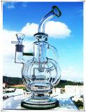 Recycler Hb-K50 Inline-Perco trizyklische Querform gebogenes Stutzen-rauchendes Wasser-Glasrohr