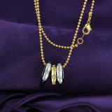 Halsband van de Tegenhanger van de Ring van de Juwelen van twee van de Toon Toebehoren van het Kristal de imitatie