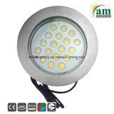 316ss 18X3w IP68 LED水中RGBの鉱泉ライト