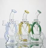 Conduites d'eau en verre de pipe en verre d'équipement ventes directes d'usine avec de TAPE colorée de recycleur et de percolateur équipement et lot mélangé de support