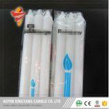 Fábrica de velas velas decorativas simples branco 400g círios plissado