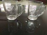 Tazas de cristal claras del vidrio de consumición de las tazas con la maneta Sdy-J0031