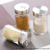 Salz-Glasglas des freies Beispiel100ml mit Edelstahl-Kappe