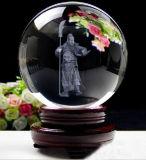 Claro personalizado Esfera bola de cristal con grabado láser 3D