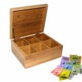 Kundenspezifischer hölzerner Tee-Verpackungs-Kasten-Ablagekasten-Bambusgroßverkauf