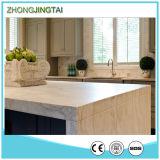 Bancada artificial projetada da cozinha de Calacatta da pedra de quartzo da faísca