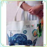 Het winkelen het Handvat doet van de Katoenen van 100% de Zak Totalisator van het Canvas in zakken