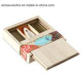 Caixa de madeira personalizada com a tampa deslizada para o lápis