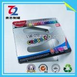[بنسل كس] قصدير صندوق مع معدن مفصّل لأنّ 24 قلم