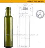 Botella de cristal del aceite de oliva de la dimensión de una variable redonda con la tapa del tornillo de metal (1048)
