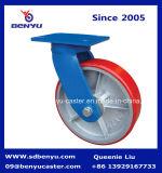 Moins de fer de pivot de fusée de chargement supplémentaire Core Polyurethane-Covered roulette