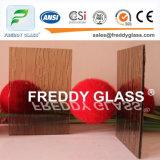 vidro de indicador de vidro tecido bronze da mobília do vidro modelado de 5.6mm