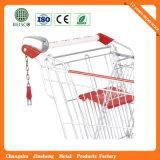 最もよい価格の金属のショッピングトロリー(JS-TEU02)