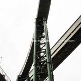 El transportador de correa curvado de la planta siderúrgica/el transportador horizontal de la curva curva el transportador