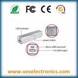 2600mAh Presentes promocionais Bateria externa Bancos de energia