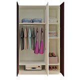 Tür-Garderobe des Morden Entwurfs-White+Black 2/3/4 für Schlafzimmer