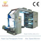 Impresora flexográfica del color de papel del carrete uno