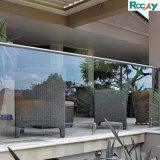 Balustrade van het Glas van het Traliewerk SS304 van het Glas van Frameless de SS316 Aangemaakte