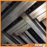 Rete fissa di inferriata d'acciaio tubolare superiore del germoglio rivestito della polvere