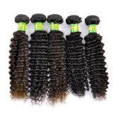 Natural de qualidade superior de cabelo humano Virgem Brasileira Kinky Extensões de Cabelo encaracolado Lbh 100