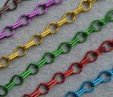 Блестящий серебряный звено цепи шторки шторки из алюминия