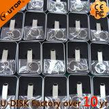 Het Metaal USB Pendrive van het Embleem van de Laser van de Douane van de Giften van de bevordering (yt-3295-10)
