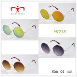 Design retro e óculos de sol de metal da estrutura redonda (MI218)