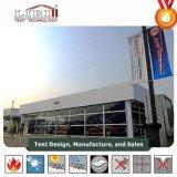 De opblaasbare Tent van het Dek van het Dak Dubbele met de Muren van het Glas voor Eersteklas Auto toont Gebeurtenissen