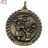 Personalizar el chapado de Cheerleading de Antigüedades de alta calidad de la medalla de metal