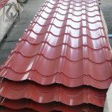 Grünes Farben-PPGI galvanisiertes gewölbtes Stahldach, das für Dekoration bedeckt