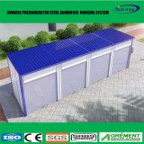 Almacenaje movible portable prefabricado prefabricado de la vertiente del granero del taller de la estructura de acero