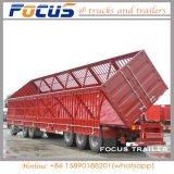 3 Eixo 60t lado pesados de carga/Dumper semi reboque para transporte de carvão de Areia
