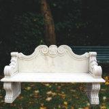 庭の装飾のための自然な大理石のベンチ