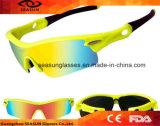 Da bicicleta ao ar livre do motor dos óculos de sol da bicicleta de Eyewear óculos de proteção UV reflexivos polarizados 5 lentes que dão um ciclo vidros