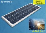 Rue lumière solaire intégré avec boîtier en alliage en aluminium au design moderne RoHS 80W Ce ISO