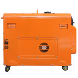 Roter leiser Dieselgenerator der Farben-5kw (DG6LN)