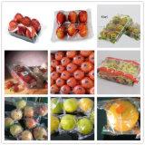 Fruta fresca con el acondicionamiento de los alimentos de la empaquetadora de la bandeja