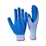 Голубая пряжа 10g T/C 5 перчаток руки латекса резьбы 21s