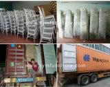 Hotel Banquetes Alumínio Casamento Chiávari Cadeira de empilhamento