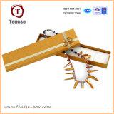 Boîte-cadeau faite sur commande de bijou pour des colliers avec des garnitures intérieures de velours