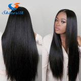 Блеск шелка Brazalian Virgin удлинитель волос черный 100% волос человека прямо, соткать