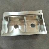 Edelstahl-Küche-Wanne-Doppelte Filterglocke-bietende Geräten-Edelstahl-Küche-Wannen