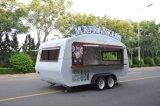 De Vrachtwagens van het voedsel, de Mobiele Aanhangwagen van het Voedsel, de Aanhangwagen van het Voedsel, Mobiele ZonneAanhangwagen