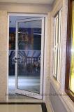 주문을 받아서 만들어진 상한 디자인 여닫이 창 또는 그네 알루미늄 문