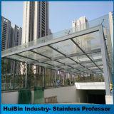 установка стеклянной стены 304 & 316 спайдеров приспосабливая для домашнего гаража гостиницы